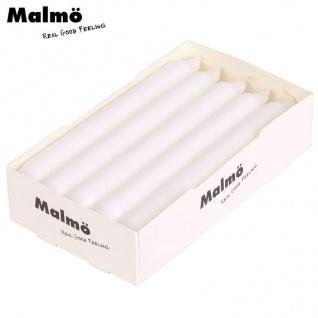 Malmö Tafelkerzen 10er-Set Weiß Stabkerzen Leuchterkerzen Tischdeko Spitzkerzen