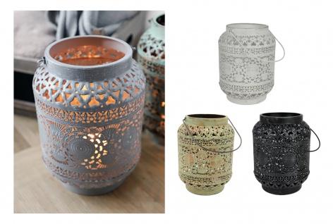 Metall Laterne Oriental Kerzenhalter Kerzenständer Windlicht Deko Vintage Antik