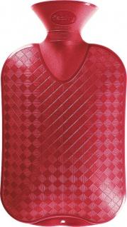 fashy WÄRMFLASCHE Thermoplastische Wärmflasche 642042 Glatt 2l Berry