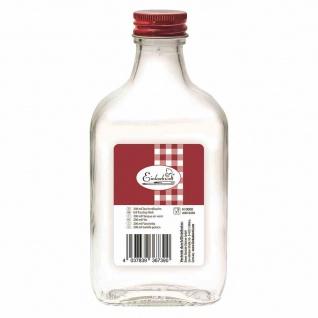 Taschenflasche weiß 200 ml mit roter Verschraubung 28 mm