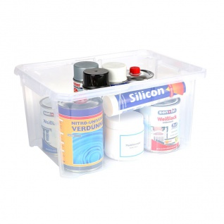 Aufbewahrungsbox 40x29x20, 5cm Stapelbox Werkzeugkiste Spielzeugkiste Kunststoff