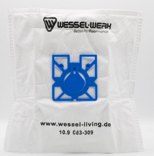 4x WE1 Wessel-Werk 109083312 Swirl EIO80 Staubsaugerbeutel für Eio, Dirt Devil, Hanseatic, Quigg