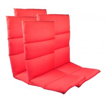 4 Rollstepp Hochlehner Polsterauflagen Sitzkissen Sesselauflage Auflage Garten