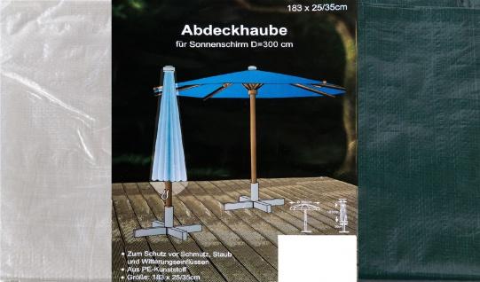 Abdeckhaube für Sonnenschirm 183 x 25/35cm Schutzhülle Abdeckplane Möbelschutz