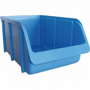 Sichtbox PP Gr 4 blau 335/295x205x155mm Stapelbox Lager Box Sichtlagerboxen TOP