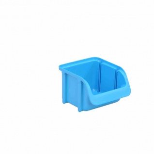 Sichtboxen PP Gr 1 blau 115/85x100x75mm Stapelboxen Lagerboxen Box Sichtlagerbox