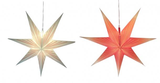 LED Weihnachtsstern 60cm rot weiß Adventsstern Leuchtstern Weihnachtsdeko Deko