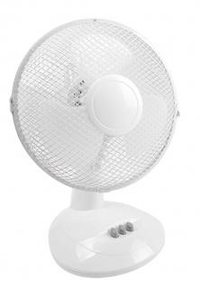 Tischventilator Ø27cm Lüfter Ventilator Kühlung Gebläse Windmaschine Klimagerät