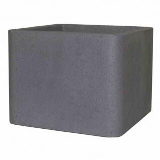 Cube 30cm zementgrau Pflanzgefäß Pflanzkasten Blumentopf Balkon Terrasse Garten