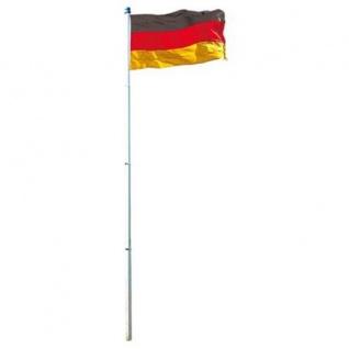 Deutschlandfahne 150x90cm mit Alumast 6m Fahnenmast Fahne Flagge Fussball