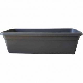 Bewässerungskasten 100 x 21, 6 x 17, 5 cm, anthrazit mit Einsatz und Wasserstandsanzeiger
