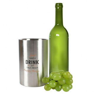 Weinkühler aus Edelstahl Flaschenkühler Sektkühler Eiseimer Wein Sekt Champagner