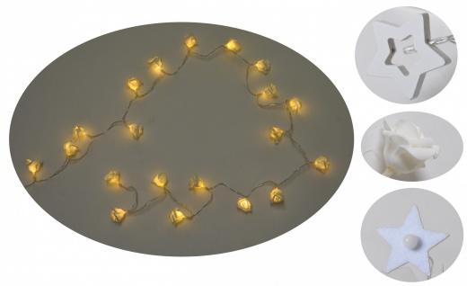 Lichterkette 20 LEDs Weihnachtsdeko Stern Blüte Hochzeit Leuchtdeko Batterie