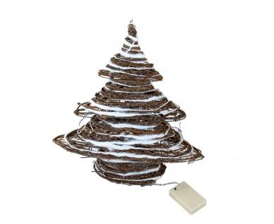 LED Deko Weihnachtsbaum Rattan 40cm Tannenbaum Dekobaum Weihnachten Fensterdeko