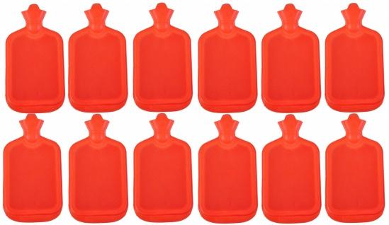 12x Wärmflasche Retro 2L Wärmetherapie Wärme Flasche Therapie Wärmekissen Gummi