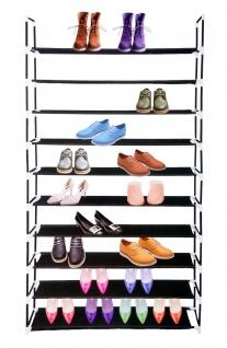 Schuhregal mit 10 Ablagefächer Schuhständer Schuhablage Schuhschrank Regal neu