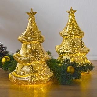 Tischleuchte in Tannenform Weihnachtsbaum Tannenbaum leuchtend Dekoration