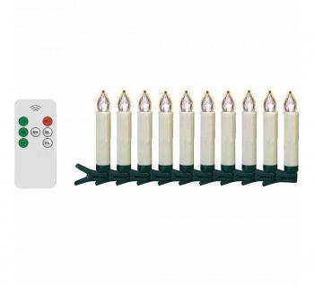 10 LED Christbaumkerzen kabellos Weihnachtskerzen Weihnachtsbaum Lichterkette