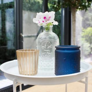 Dekotisch mit Accessoires Beistelltisch Tablett Vase Teelichthalter Kerzenhalter