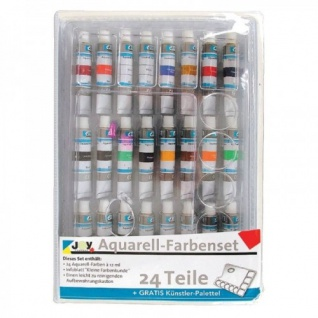 Aquarellfarben-Set 24 je 12 ml Tuben Farb-Mischpalette Farbenkunde Malfarben