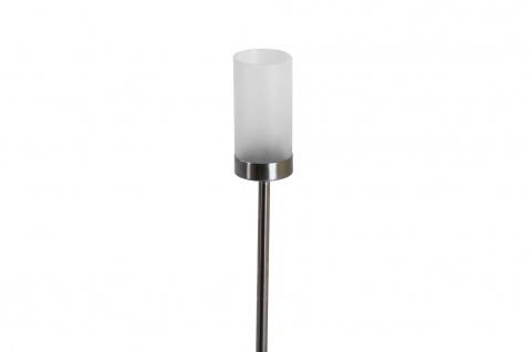 Edelstahl Garten-Fackel Windlicht Teelichthalter Kerzenständer Gartenleuchte