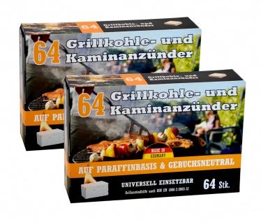 Kohleanzünder 2er-Pack Grillkohleanzünder Kaminanzünder Ofenanzünder Zündhilfe