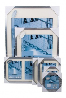 Holzrahmen im Alu Design-Blockrahmen Arosa versch.Größen Bilderrahmen
