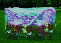 Gartenmöbel Abdeckhaube rund 200x80cm
