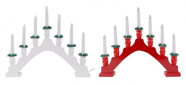 LED Schwedenleuchter Holz Advents- Lichterbogen Kerzenleuchter Weihnachtsdeko