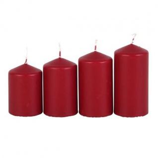 Adventskerzen bordeaux Stumpenkerzen Weihnachtskerze Stufenkerzen Stumpen Kerze