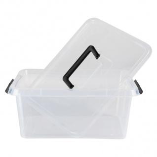 Box-One 12, 5 L Aufbewahrungsbox mit Deckel Tragegriff Clipverschlüsse Ordnung - Vorschau 1