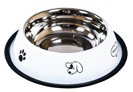 Edelstahl-Fressnapf Ø 21, 5cm antirutsch Trinknapf Saufnapf Wassernapf Hund Katze - Vorschau 3
