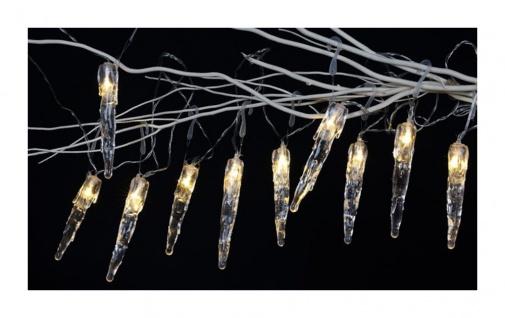 LED Eiszapfen-Lichterkette 10LED Weihnachtsbeleuchtung Weihnachtsdeko Winterdeko