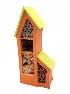 Insektenhotel aus Holz mit Bambus und Zapfen Insektenhaus Nistkasten Gartendeko