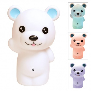 LED-Nachtlicht Bär Farbwechsler Schlummerlicht Einschlafhilfe Kinder Baby Teddy