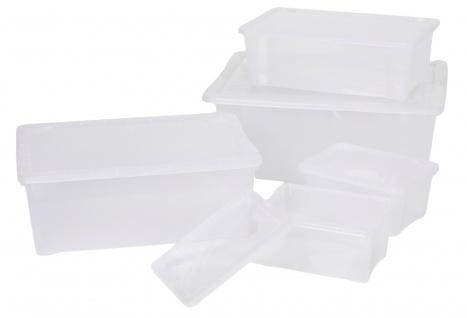 Klarsichtbox 5er-Set Stapelbox Aufbewahrungsbox Deckelbox Kunststoffbox Box neu