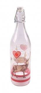 Drahtbügelflasche Hirsch 1L Bügelverschluss Wasserflasche Trinkflasche Flasche