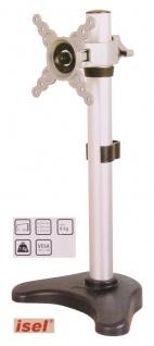 Isel® Alu Monitor Tisch Halterung bis 8 Kg / 24 Zoll Tischhalter Ständer TV LED