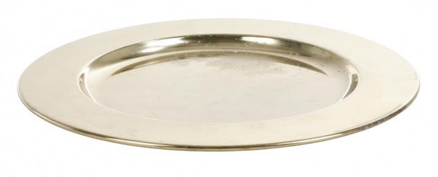 Metall Dekoteller 30cm Servierteller Platzteller Weihnachtsteller gold glänzend