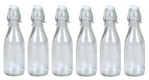 Drahtbügelflasche 6er-Set 0, 25 Liter Glasflasche Bügelflaschen Bügelverschluss