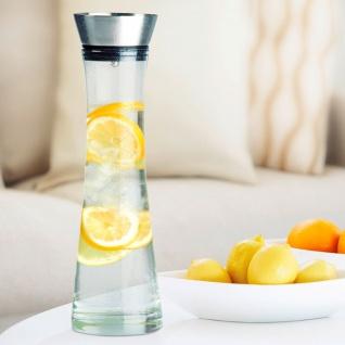 Karaffe 1Liter Glaskaraffe Wasserkaraffe Dekanter Glaskrug Wasserkrug Saftkrug