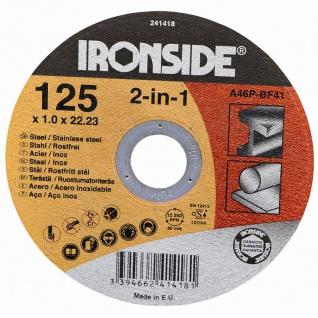 Trennscheiben 125x1, 0x22 für Stahl+Inox Schruppscheiben Schleifscheiben Werkzeug