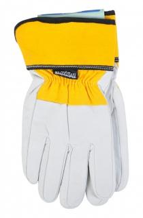 5 Paar Thermo-Arbeitshandschuhe Gr.9 Thinsulate Lederhandschuh Handschuh Montage - Vorschau 2