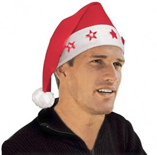 Weihnachtsmannmütze beleuchtet Nikolaus Mütze Weihnachten Weihnachtsmütze Lampe
