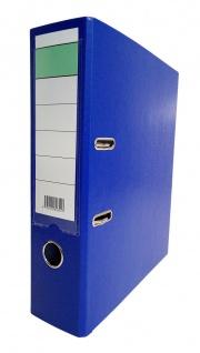 Aktenordner A4 blau mit Schildtasche Archivordner Dokumentenablage Büroordner
