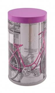 Metall Kaffeedose Fahrrad Kaffeebehälter Vorratsdose Teedose Blechdose Dekodose