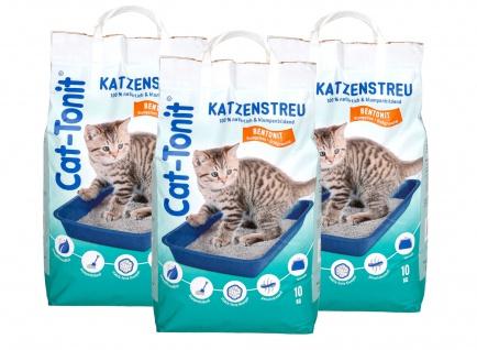 Cat Tonit Katzenstreu 30kg Klumpstreu Haustierstreu Einsteu Streu Haustier