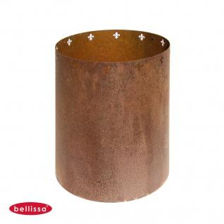 Bellissa® Corten Blumentopf Verkleidung rund 40x40cm Rost Pflanzgefäß Gartendeko