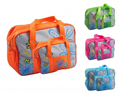 Kühltasche 2er-Set Picknicktasche Einkaufstasche Picknickkorb Thermo Reisetasche