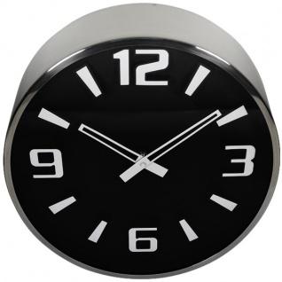 Wanduhr 46 cm schwarz/weiß Uhr Küchenuhr Bahnhofsuhr Wohnzimmeruhr Zifferblatt